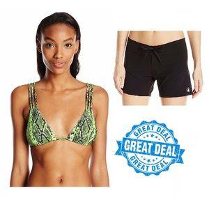 Lot of 2 Volcom Bikini Top and Boardshorts M/7